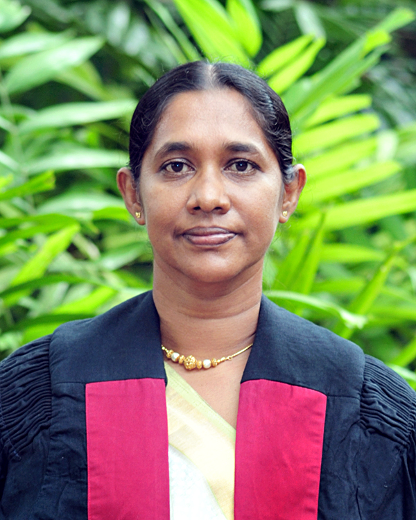 Senior Lecturer Mrs. D.K. Manatunga