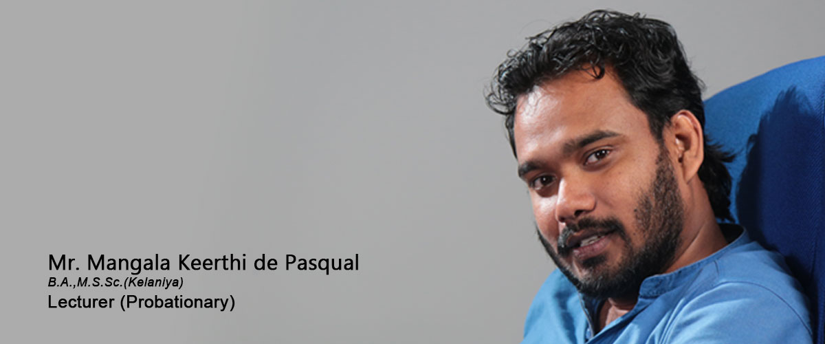 Mr. Mangala Keerthi de Pasqual