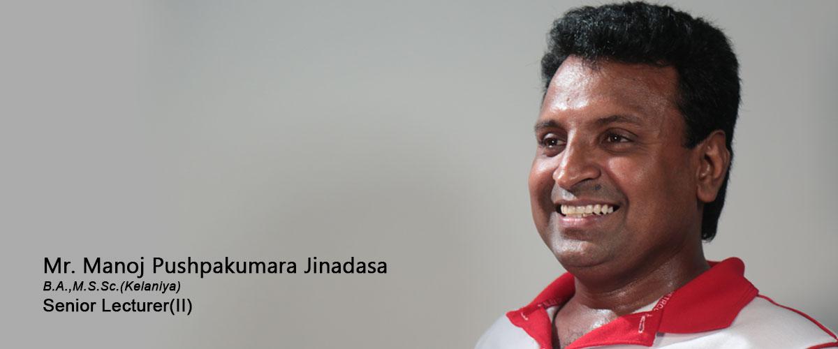 Mr. Manoj Pushpakumara Jinadasa