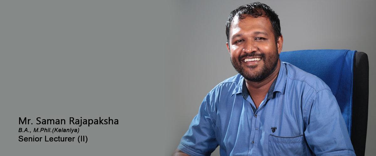 Mr. R. Saman Rajapaksha