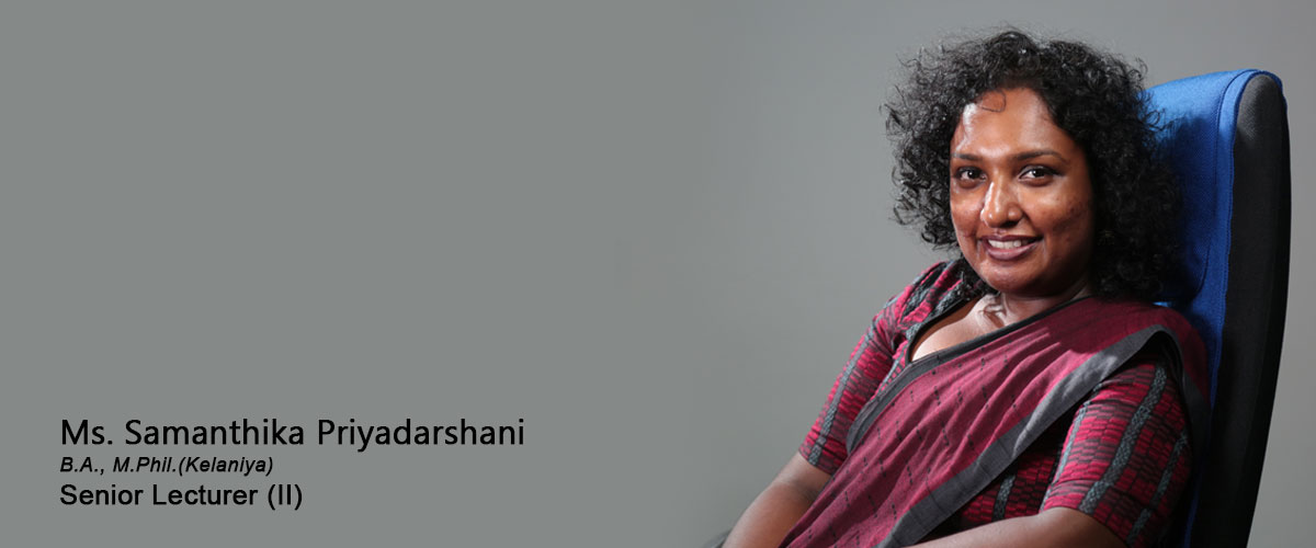 Ms. Samanthika Priyadarshani