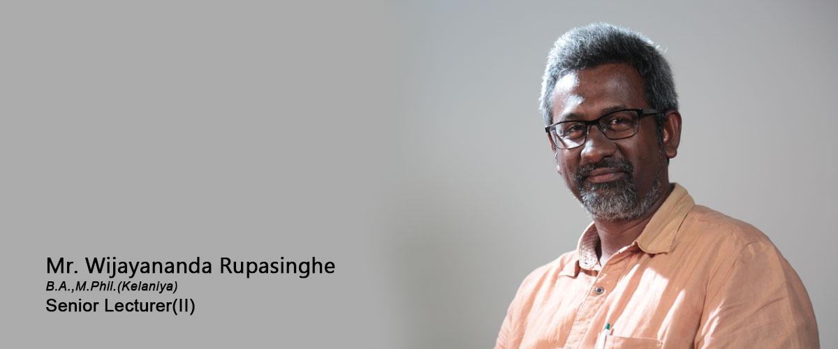 Mr. Wijayananda Rupasinghe