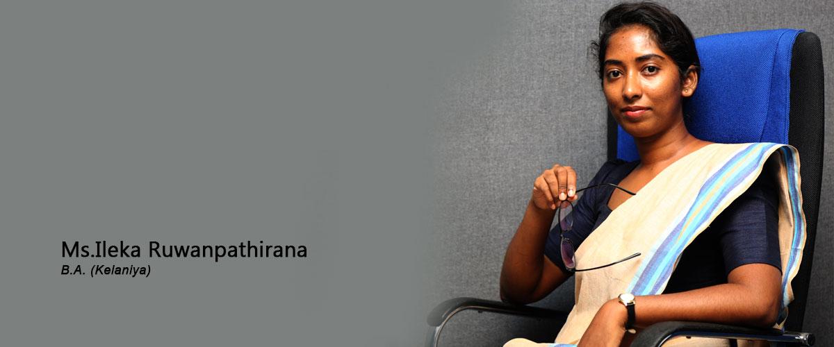 Ms. Ileka Ruwanpathirana-Assistant Lecturer